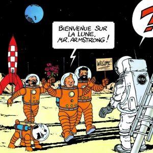 comic tintin aterrizaje en la luna
